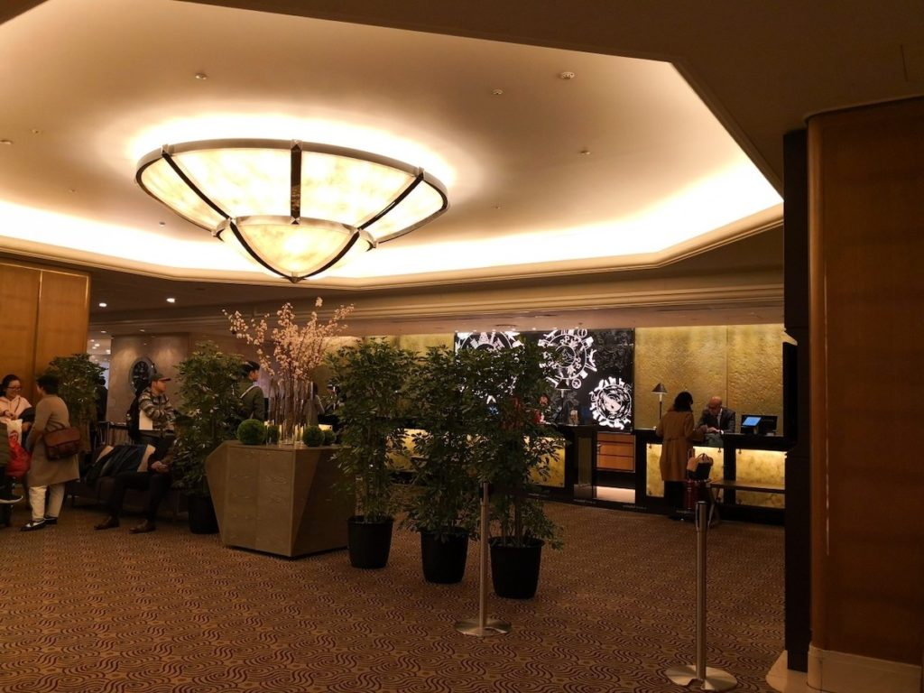 スイスホテル南海大阪のロビーの様子