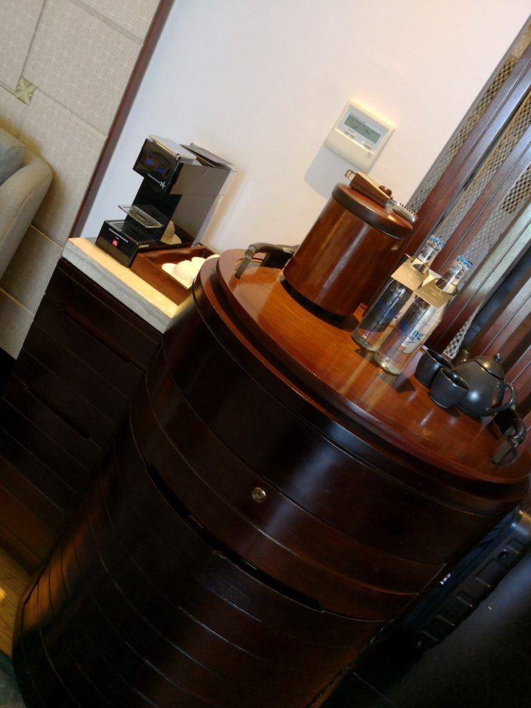 バリ島のソフィテルホテルのコーヒーマシン