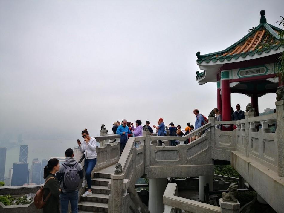 香港ビクトリアピークの撮影スポットの様子2
