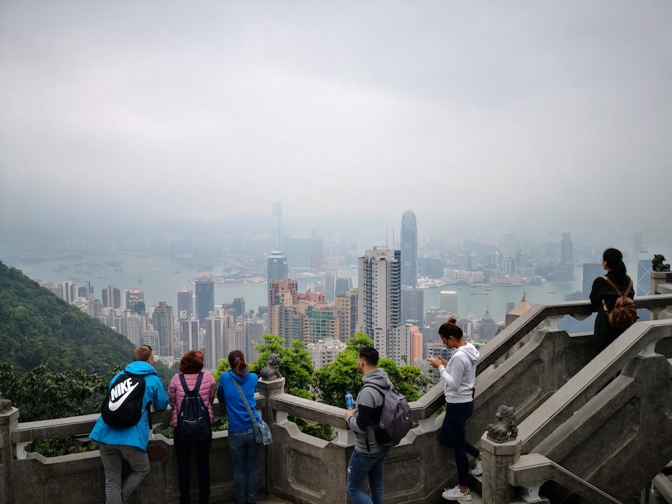 香港ビクトリアピークの撮影スポットの様子3