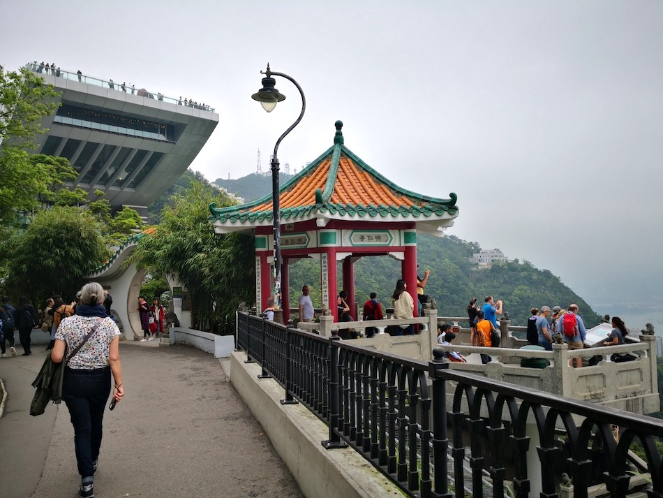 香港ビクトリアピークの撮影スポットの様子1