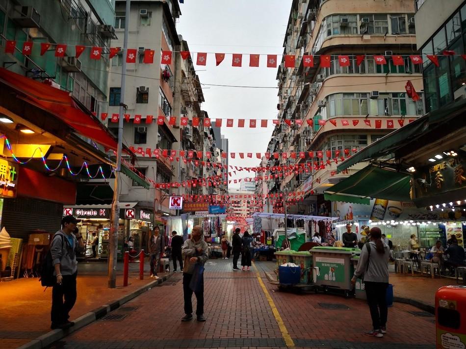 香港男人街の中の様子1