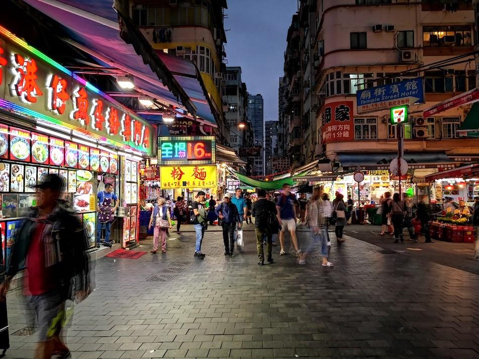 香港男人街の中の様子2