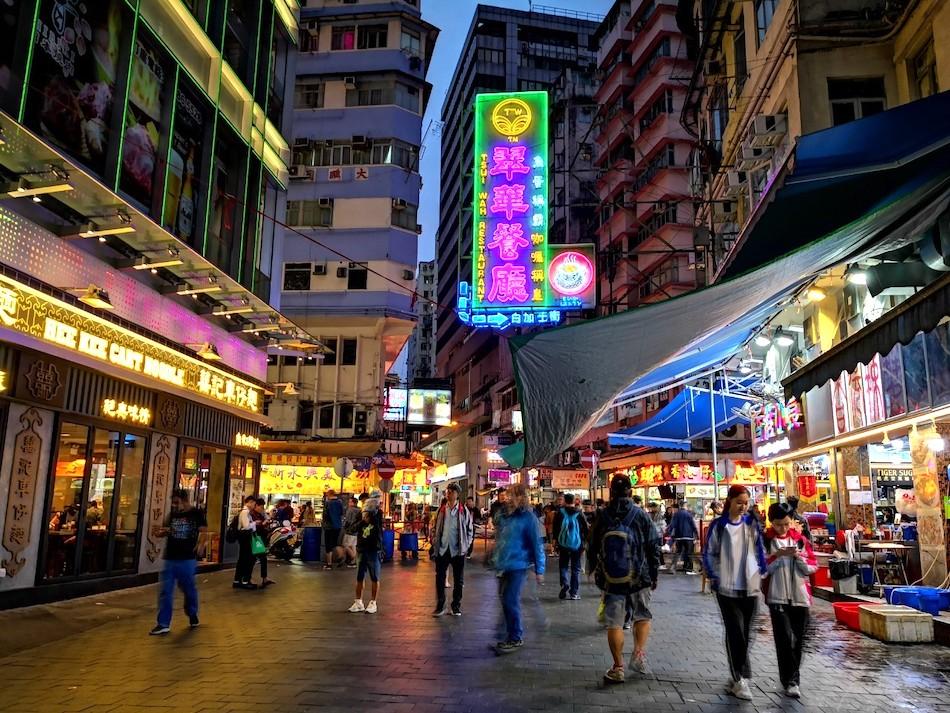 香港男人街の中の様子5