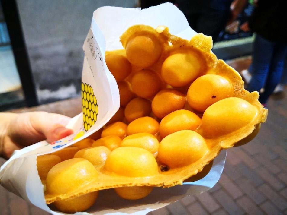香港男人街の媽咪雞蛋仔(Mammy Pancake)のカステラ