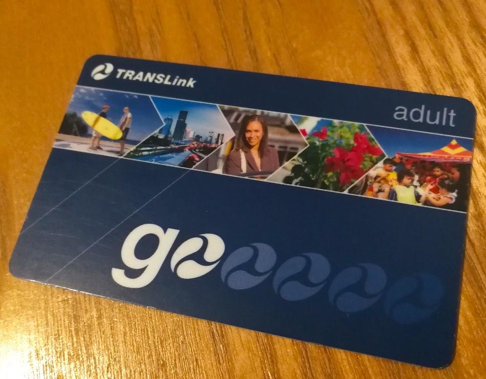 ゴールドコーストで使えるGo Cardの青色