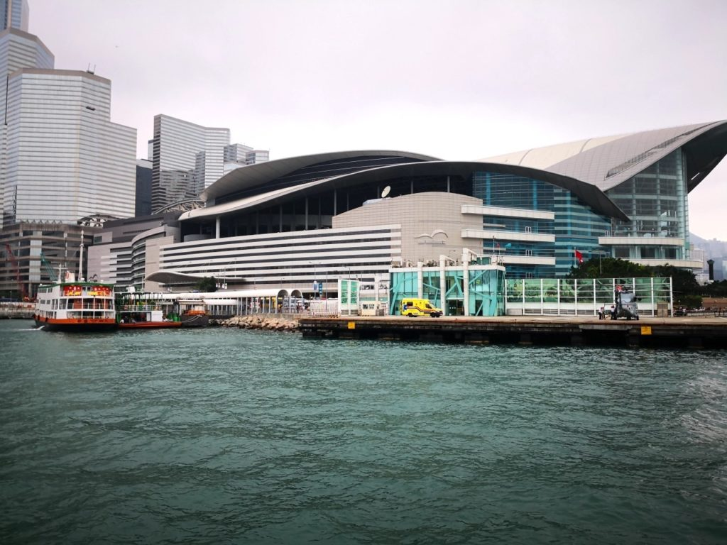 香港スターフェリー船内からの眺め5