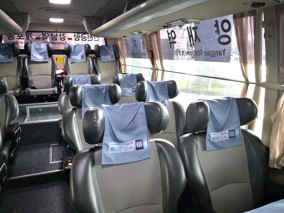 仁川国際空港からでている6009のリムジンバスの車内の様子