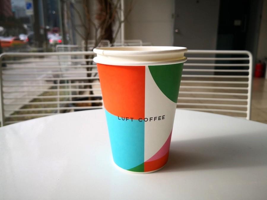 明洞のルフトコーヒーのラテ